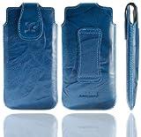 Suncase �tui pour LG T385 (Bleu/effet cuir d�lav�)