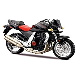 Maisto Kawasaki Z1000 Diecast Motorcycle Model - 1/18 - Black,Red