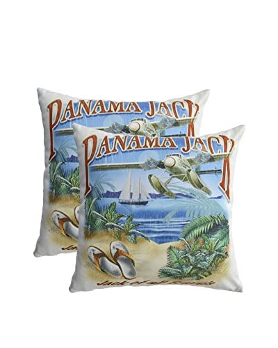 Panama Jack Set of 2 All Travels Throw Pillows, Multi