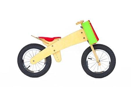 Vélo sans pédales rouge en bois