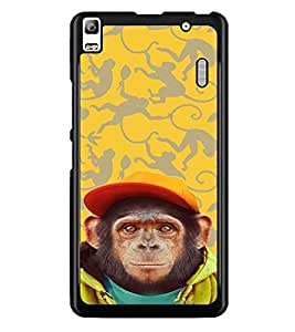 PrintDhaba Cute Monkey D-3653 Back Case Cover for LENOVO A7000 TURBO (Multi-Coloured)