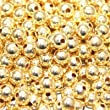 200 pieces 4mm Gold Plated Metal Spacer Beads - A6721