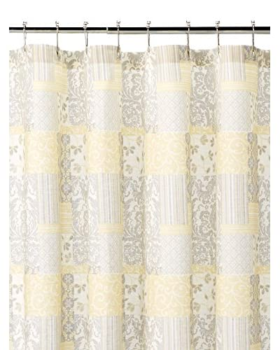 Alexa Shower Curtain, Yellow/Grey