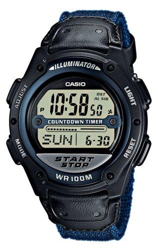 Casio W-756B-2AVEF- - Reloj digital de cuarzo para hombre con correa de nylon, color azul