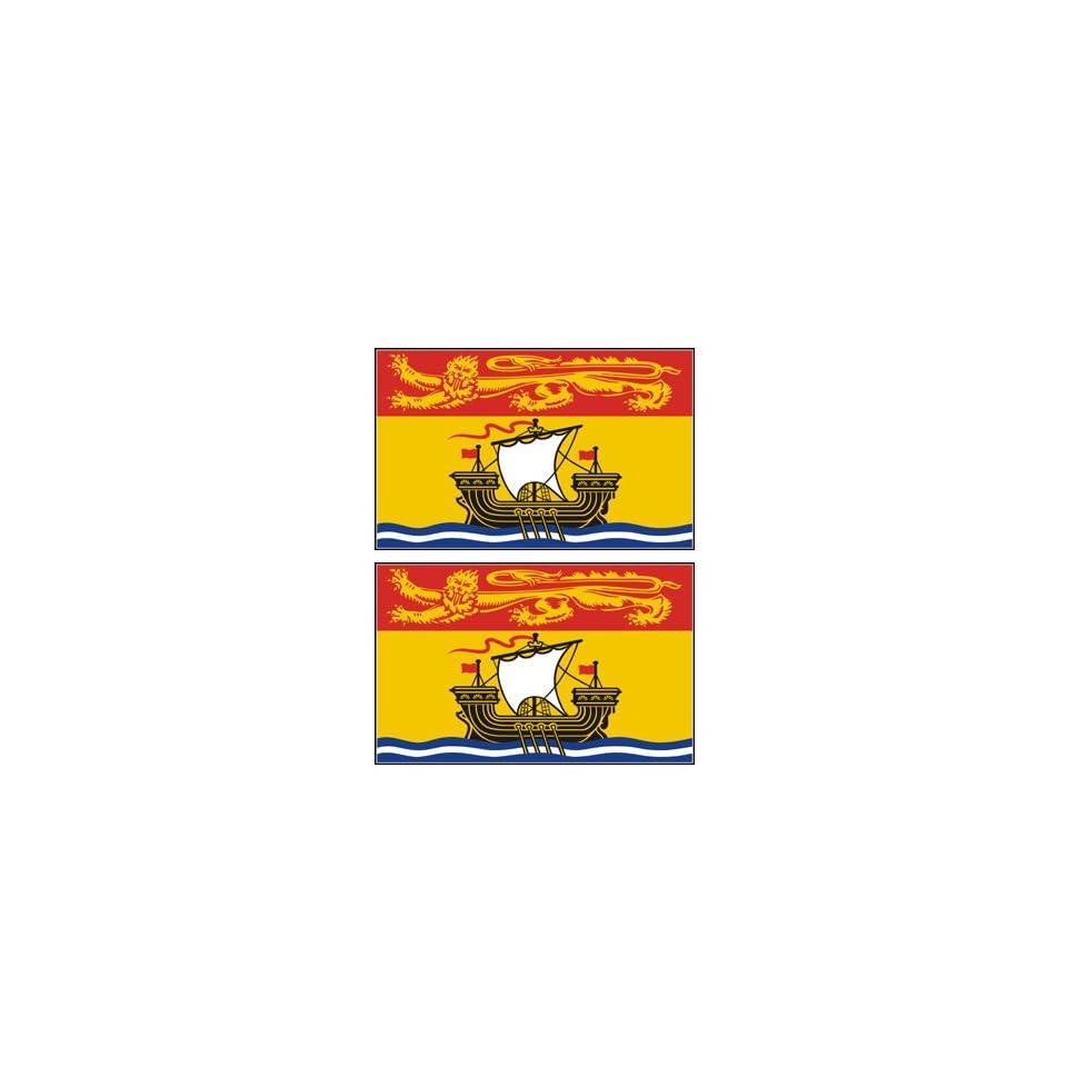 2 New Brunswick Canada Flag Stickers Decal Bumper Window Laptop Phone Auto Boat Wall