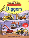 Cover of Diggers Sticker Book by Alice Pearcey Dan (Illus) Crisp Louie Stowell 0746089392