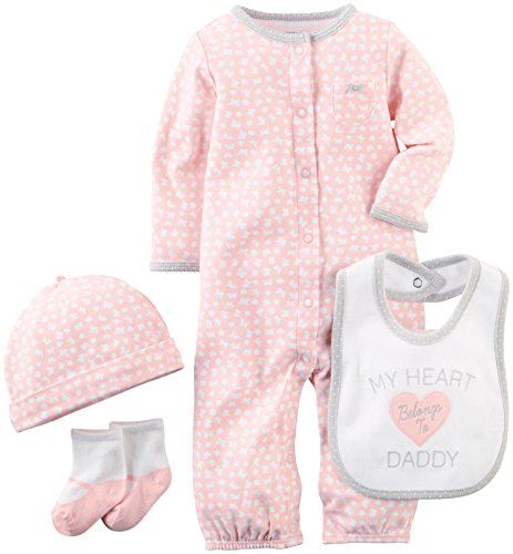 Carter's Baby Girls' 4 Piece Layette Set (Baby) - Pink - Preemie