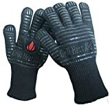 Replace Your Old Oven Mitts with Revolutionary 932°F Extreme Heat Resistant EN407 Certified Gloves - Thick but Light-Weight & Flexible - Lifetime Warranty!