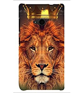 PRINTSHOPPII LION WITH CROWN Back Case Cover for Nokia Lumia 535::Microsoft Lumia 535