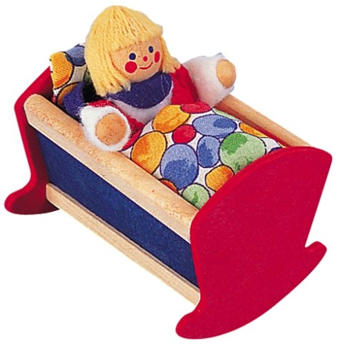 Miniature Cradle - Doll House Accessory - Buy Miniature Cradle - Doll House Accessory - Purchase Miniature Cradle - Doll House Accessory (Selecta, Toys & Games,Categories,Dolls,Accessories)