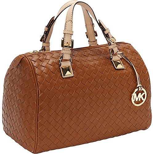 MICHAEL Michael Kors Grayson Woven Large Satchel Luggage - MICHAEL Michael Kors Designer Handbags