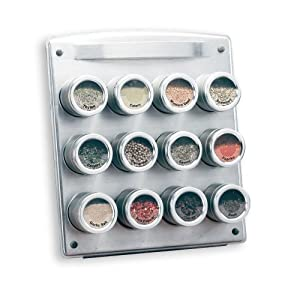 Kamenstein 12 Tin Magnetic Spice Rack