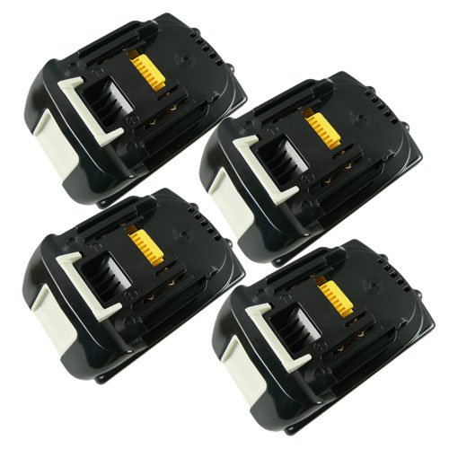 4 Pack Brand New Replacement 18v 3.0Ah Li-ion Lithium-Ion Rechargeable Battery for Makita 194205-3 LXT-400 BL1830 BL1815 BL1835