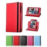 i-UniK Multi-Angles Google Nexus 7 Inch Tablet Leather Protection Case -Red,Hot Pink, Red, Lime Green, Light Blue, Expresso Black ~ i-UniK