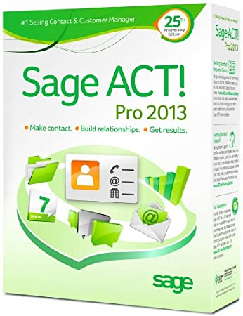 Sage ACT! Pro 2013 1 User DVD Box with Sage ACT! Connect