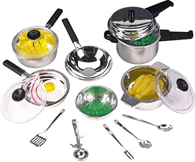 Casdon 502 15 Piece Toy Pan Set (Including Lids)