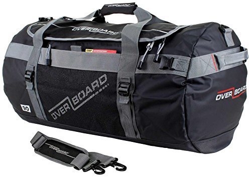 OverBoard Waterproof 35 LTR Adventure Duffel Bag - Black by Overboard