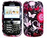 Goldstar Pink Butterfly Flowers Silicone Gel Case Cover For Samsung Ch@t335 Chat S3350