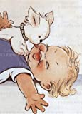 img - for Dog Kissing Baby - Greeting Card (Birthday) book / textbook / text book