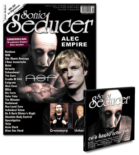 Sonic Seducer 02-08 + 10 exkl. Sticker und Cold Hands CD mit Bands u.a. Qntal, Leandra feat. Sven Friedrich, Crematory u.v.m.