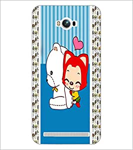 PrintDhaba Cartoon D-5812 Back Case Cover for ASUS ZENFONE MAX ZC550KL (Multi-Coloured)