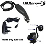 Genuine Sony Ericsson V800 UK 3 Pin Mains Charger And In Car Charger + Mobile Car Holder Multi Buy