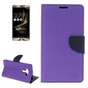 Crazy4Gadget For ASUS ZS570KL Cross Texture Horizontal Flip Leather Case with Holder & Card Slots & Wallet(Purple)
