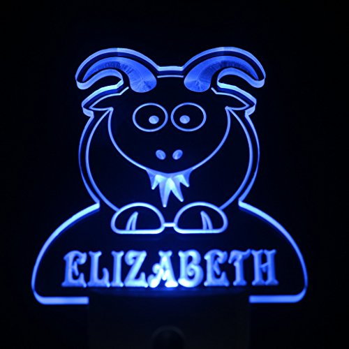 Ws1010-Tm Goat Personalized Night Light Baby Kids Name Day/ Night Sensor Led Sign