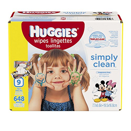 Huggies Simply Clean Fresh Scented Baby Wipes Retail Case, 648 Count - packaging may vary