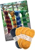 Knitting Bundle Knit Your Own Wizard School Scarf. Wool And Knitting Pattern Provided! (Gold - Yellow)