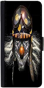 Snoogg Evil Clown Soldier 2625 Designer Protective Phone Flip Case Cover For Vivo V1