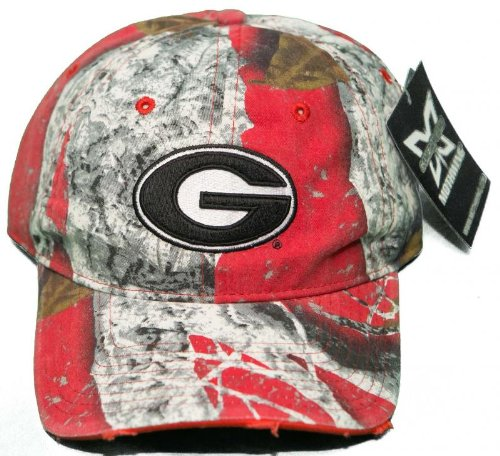 NEW! University of Georgia Bulldogs Buckle Back 3D Embroidered Mothwing Camo Cap