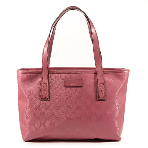Gucci Pink Imprime Leather GG Logo Tote Bag