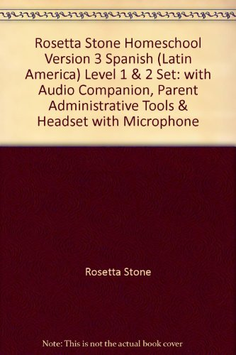Rosetta Stone Homeschool Version 3 Spanish (Latin America) Level 1 & 2 Set: With Audio Companion, Parent Administrative Tools & Headset With Microphone
