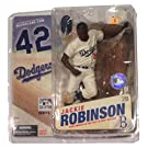 Cooperstown Series 3 Jackie Robinson: Brooklyn Dodgers White Jersey w/Blue Lettering