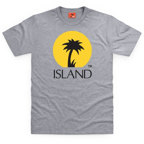 Official Island Records Logo Two T Shirt, Mens, Heather