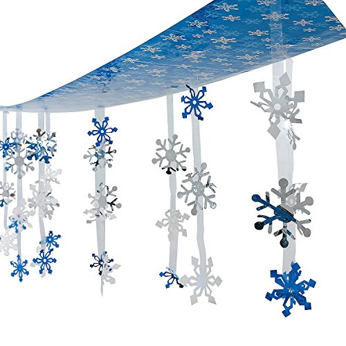 Christmas Holiday Snowflakes Ceiling Winter Decoration 12 Feet in Length!!! - 1