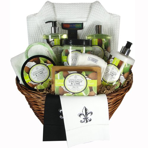 Coconut Lime Large Tropical Fruit Bath Spa Gift Basket