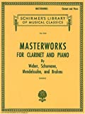Schirmers Library Masterworks for Clarinet and Piano, Vol. 1747