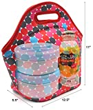 PAG Lunch Bag/Neoprene Lunch Tote Portable Lunch Bag , Waterproof,Breathable,Pink Spot