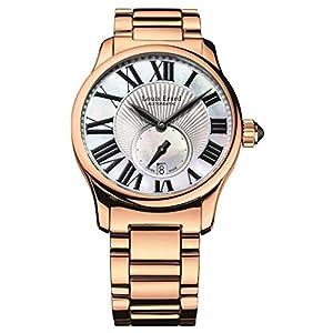 Louis Erard Women's Emotion 36mm Rose Gold Plated Bracelet & Case Automatic MOP Dial Watch 92602PR01.BMA46