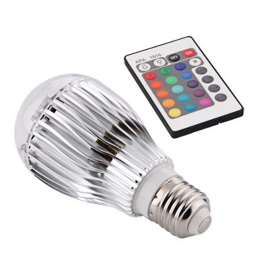 E27 9W RGB Bunte LED Birne Farbwechsel Lampe Licht 230V mit Fernbedienung