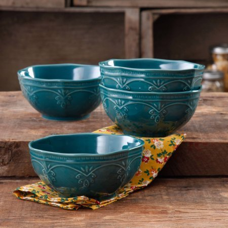 the-pioneer-woman-farmhouse-lace-bowl-set-4-pack-ocean-teal-antique-finish-durable-stoneware-lace-bo