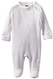 Kushies Unisexbaby Newborn Everyday Layette Sleeper, White Dots, Preemie