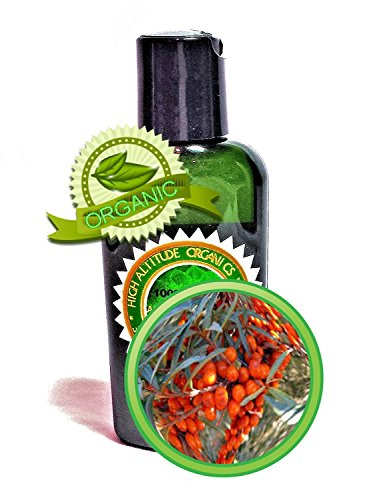 Sea Buckthorn Seabuckthorn Berry/Fruit Oil - 2Oz/60Ml - 100% Pure, Undiluted, Cold-Pressed, Unrefined, Virgin - Rich Source Of Vitamins, Omegas, Essential Fatty Acids, Phenols, Terpenes, Tannins And More - By High Altitude Organics