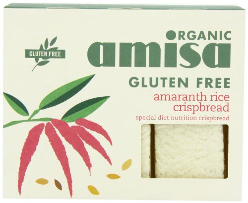 Amisa Gluten Free Crispbread Amaranth Rice Organic 150 g (Pack of 6)