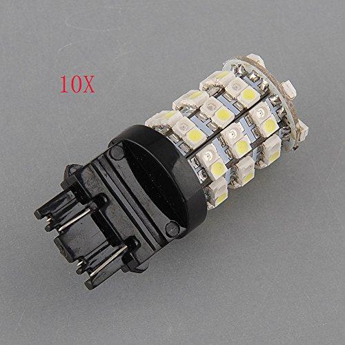 {Factory Direct Sale} (Pack Of 10) 3157 60 Switchback White Amber 3528 Smd Smds Smt Led Leds Front Turn Signal Light Lights Bulb Bulbs Dc 12V