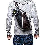 (Marib select) ボディバッグ 斜めがけバッグ マチが広くて定番フォルム バイカラー配色 斜めファスナー メンズ 鞄 カバン (4カラー) ランキングお取り寄せ