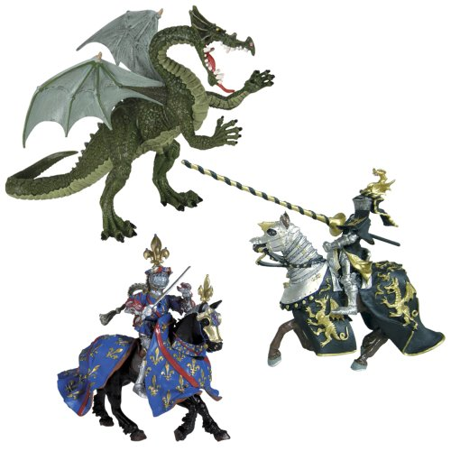 Knights and Dragons Set 1 - Buy Knights and Dragons Set 1 - Purchase Knights and Dragons Set 1 (Safari, Toys & Games,Categories,Toy Figures & Playsets,Miniature Figures)