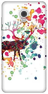 The Racoon Lean The Reindeer Card hard plastic printed back case / cover for Lenovo Vibe P1